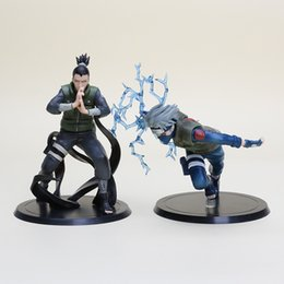 Wholesale Kakashi Hatake Action Figure - high quality anime Naruto Hatake Kakashi Nara Shikamaru pvc action figure model approx 15cm 2pcs set free shipping