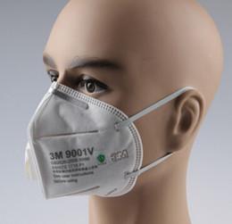 Envío gratuito 1Box = 25pcs 3M 9001V Válvula de exhalación de polvo doblado / respirador de niebla desde fabricantes