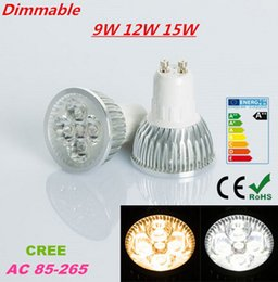 Wholesale Dimmable Led Day Light - CREE Dimmable 9W 12W 15W GU10 MR16 E27 E14 B22 GU5.3 LED Bulbs Lighting Led Spotlights Warm Day Cool White Light Lamp LED Downlight