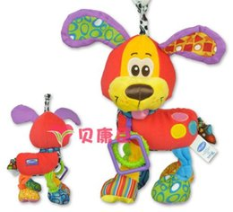 Wholesale Dogs Pull Toy - Wholesale-PlayGro My first activity friend Dog Baby toys trade puppies pull shock lathe hanging