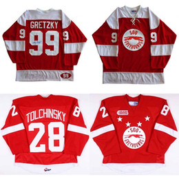 Wholesale Marie Red - New Customize OHL Sault Ste Marie Soo Greyhound Jersey 99 Wayne Gretzky 28 Sergey Tolchinsky Mens Womens Kids Hockey Jerseys Goalit Cut