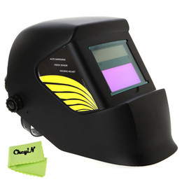 Wholesale Auto Darkening Welding Helmet Lens - New Pro Solar Battery Auto Darkening Welding Helmet Lens Welder Masks for Tig Mag Grinding ARC Solder Filter Cap Hat 0.25-DH006 order<$15 no