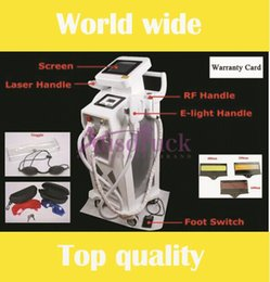Wholesale Tattoo Hair Removal Machines - Updated NEW Elight IPL Hair Removal ND Yag Laser Tattoo removal RF Radio Frequency skin lifting tightening skin rejuvenation beauty machine