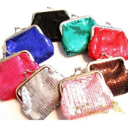Wholesale Retro Classic Bag Handbag - Wholesale-bright girls Women Wallet sequins Change Purse key coins bag Handbag Pouch Retro Simple Girls Case Classic Canvas