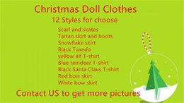 Wholesale Clothes Free Shipping Dhl - DHL UPS Fedex TNT Plush Doll Clothes 12 Styles Tuxedo suit scarf & skates 40pcs doll clothing setl skirts & boots clothes Free shipping