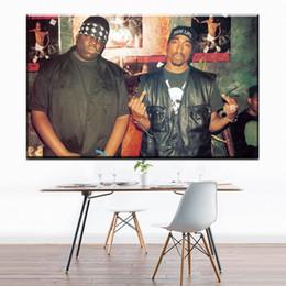 1 Uncs Notorious B.I.G Tupac Biggie Rap Música Arte de la Lona Pintura Al Óleo Moderna Decoración Del Hogar Arte de La Pared Poster Pictures For Room Sin Marco desde fabricantes