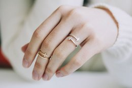 Wholesale Sideways Jewelry - Fashion jewelry iron jesus sideways double cross cuff finger religious ring for women stretch girl ringsWholesale Free shipping