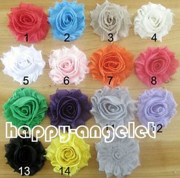 "Wholesale Wholesale Quality Shabby Flowers - 50pcs 2.5"" baby hair accessories kids hair bows flower Shabby flower sewing accessorie african lace fabric high quality without clip HT2114"