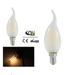 Wholesale E14 3w Led Clear Candle - 30pcs lot NEW filament led bulb E14 2W 4W chandelier LED CE ROHS 220V filament candle Light bulb lamps