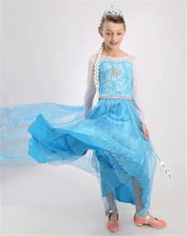 Wholesale Carnival Cuts - 2016 cotton detachable cloak snow country princess dress Cinderella dress aisha mop the floor skirt for baby girls