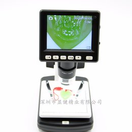 Wholesale Digital Microscopes For Computers - High definition 5000000 with screen electronic microscope digital zoom lens with support for computer TV