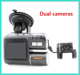 Wholesale Camera Control Box Dvr - X2 HD 720P Car Camera 2.0' LCD Dual Lens Vehicle Video Recorder Remote control Car DVR Night Version with Retail Box dropshipping