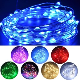 Wholesale Battery Operated Warmer - 100 LED 33ft Fairy String Lights Battery Operated Waterproof 8 Modes String Lights Battery Copper Wire Firefly Lights Remote Control