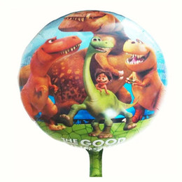 Wholesale Wholesale Ballons - 50pcs 18inch cute dinosaur foil balloons cartoon animals ballons birthday party decorations child lovely toys