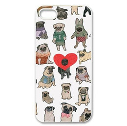 Wholesale Mobile Phone Case Dogs - Wholesale Cute More Dog Charm Design Hard Plastic Mobile Phone Case Cover For iPhone 4 4S 5 5S 5C 6 6plus