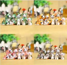 Wholesale Cute Animal Crafts - 5 Colors Cute Cat Animal Miniature Fairy Garden Home Houses Decoration Mini Craft Micro Landscaping Decor Diy Accessories