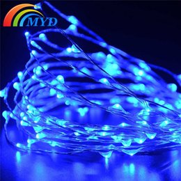 Wholesale String Lights Drop Shipping - Free shipping 100LEDS Solar Led Christmas Tree Lights Solar Powered Fairy String Lights Outdoor Garden Party Decoration