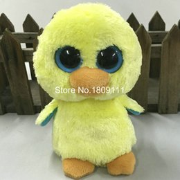 """Wholesale Wholesale Stuffed Chicks - Wholesale-IN HAND NEW TY BEANIES BABIES BOOS STUFFED ANIMAL BIG EYES Solid eyes~Goldie the yellow chick no heart tag~6""""Cute Plush doll"""