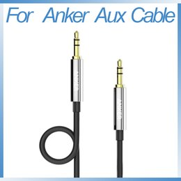 Wholesale phone feet - For Anker Aux cable Auxiliary Audio cable 4 feet 1.2m with chrome gold plating plug aux cable for smart phones and headphones