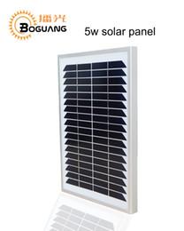 Boguang 5W 18V fabricantes de módulos de paneles solares monocristalinos portátiles en China 12V alta calidad de energía solar multiusos coches barco desde fabricantes