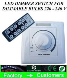Ferndimmer schalter geführt online-2015 neu kommen LED-Dimmerschalter mit IR-Fernbedienung für dimmbare Birnen SMD oder COB LED-Lichtleisten 220 - 240 V an
