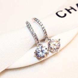 Wholesale Pearl Zircon - Brand classic temperament zircon double sided pearl earrings for women big stud earring gift female 2015 New Upscale Jewelry
