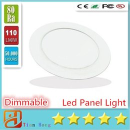 Wholesale Smd Led Down Lights - Dimmable Round Led Panel Light SMD 2835 3W 9W 12W 15W 18W 21W 25W 110-240V Led Ceiling Recessed down light Led downlight + driver