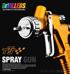 Wholesale Golden Base - DEVILLEBS lvmp spray gun professional spray gun TTS golden paint gun water based automotive guns car painting tools pistol paint