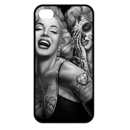 Wholesale Cool Iphone 4s Cover - Wholesale Cool Skull Beauty Girl Women Hard Mobile Phone Case Cover For IPhone 4 4S 5 5S 5C 6 6 Plus