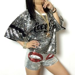 Wholesale Sexy Costume Jacket - sexy Ds costumes nightclub jazz dance clothes new female performers hiphop hip-hop clothing sequined jacket