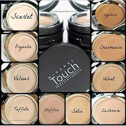 Wholesale Pressed Minerals - 2015 Mineral Touch Cream Foundation Pressed Powder Fond DE TEINT CREME 0.46OZ 13g Comes in 10 Shades.