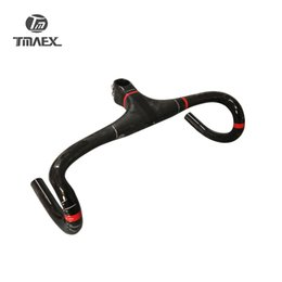 Wholesale Carbon Bike Handlebars - TMAEX-PRO Super light Full Carbon Integrated Road Bicycle Handlebar Road Carbon Handlebar With Stem Cycling Bike Parts 275G