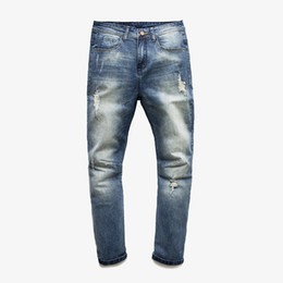 Wholesale Korean Jeans Pants For Men - Wholesale-2015 New high quality Korean style men jeans casual skinny jeans men denim stretch pencil pants ripped jeans for men size 28-36