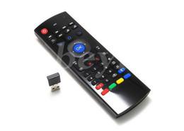 Giroscópio mouse sem fio android on-line-X8 Mini Teclado Sem Fio Air Mouse Remoto Giroscópio Sensores MIC Combinação MX3-M MX3 MX8 M8 M8 M95 S905 STB Engrenagem TV Android CAIXA