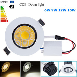Wholesale Spot Cob 12w - New Dimmable Recessed led downlight cob 6W 9W 12W 15W dimmable LED Spot light led ceiling lamp Panel Light AC 110V 220V Spotlights