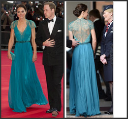 Wholesale Teal Satin Floor Length Dress - 2015 Formal prom Dress designer evening gown Sexy MermaidElegant Cap Sleeve Lace Button Back Teal Long Prom Dresses