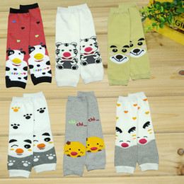 Wholesale Tiger Leggings Children - super cute children cartoon animal cow tiger panada chicken Leg Warmer 6style kids Tight leggings adult Arm warmers 12pairs lot hot sale