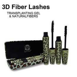 Wholesale Makeup Love Alpha - 1Set=2Pcs Wild Leopard 3d Mascara rimel FIBER LASHES makeup set For Eyelashes Love Alpha waterproof double mascara maquiagem with case