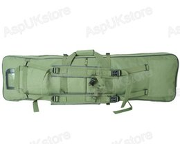 Wholesale Dual Tactical Rifle Carrying Case - Wholesale-Tactical sports bag Dual AEG Rifle Carrying Case Bag 100CM Olive Drab OD free shipping