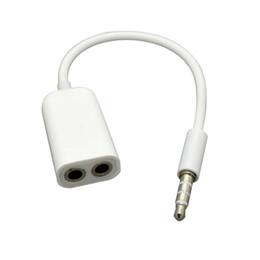Canada 3.5mm écouteurs casque mâle 1 à 2 double femelle y splitter câble audio stéréo adaptateur jack pour iphone iphone ipad livraison gratuite 100pcs / lot Offre