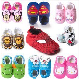 Wholesale High Quality Cartoon Mic key Mouse Very Soft Sole Shoes Baby First Walkers Brand Shoes Fashion Sneaker Leather Shoes