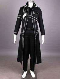 Wholesale Art Online Games - Wholesale-2016 HOT New Sword Art Online Cos Kirigaya Kazuto cosplay Uniform Dress Cosplay Costume Kirito cosplay suit
