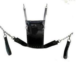 Wholesale Slings Stirrups - sex chair New Leather Sex Swing With Stirrups & Leather Pillow BDSM Bondage Gear Play Love Sling Cheap Price Fetish Furnit