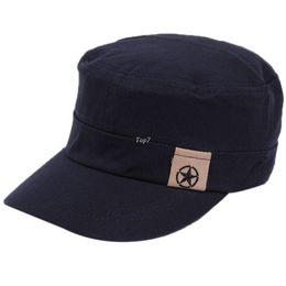 Wholesale Cadet Hats Wholesale - Classic Men Women Baseball Caps Cotton Vintage Army Peaked Hat Cadet Military Cap Adjustable Outdoors Hats ho678573