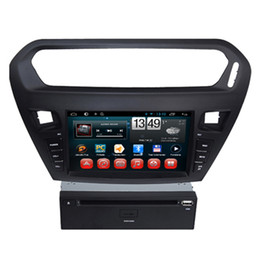 Wholesale Car Dvd Digital Panel - Quad Core Car Dvd CD Players In Car Central Entertainmen System Peugeot 301 2013 2014 with Radio GPS Navigation 1024*600 Digital Panel