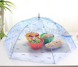 Wholesale Table Food Cover - Food Covers Umbrella Style Anti Fly Mosquito Kitchen cooking Tools meal cover Hexagon gauze table mesh food cover
