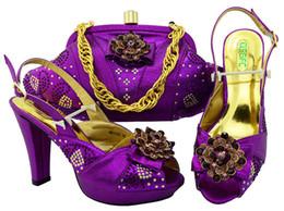 b manches sac à main Promotion Pompes de haute qualité pourpre femme avec strass et grand cristal chaussures africaines match sac à main pour robe MM1052, talon 11CM