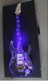 7 v guitare électrique cristal guitare transparente cristal verre transparent guitare électrique avec LED ? partir de fabricateur