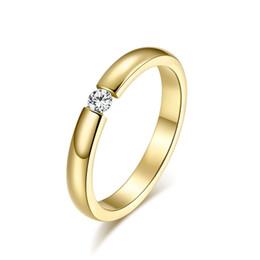 bastoni di corrispondenza all'ingrosso Sconti Nuovo 2016 anello nuziale in oro 18 carati riempito in oro con strass gioielli dito per le donne regalo della sposa