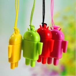 Wholesale Micro Sd Reader Android - Lovely Mini Lover Android Robot USB Micro SD Card Reader TF Memory Card Reader Best quality 100pcs